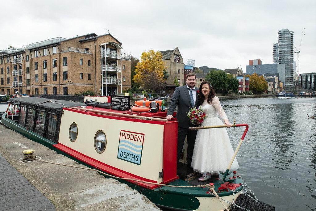 London Wedding Borough Camden Happy Couple Outdoor Reception